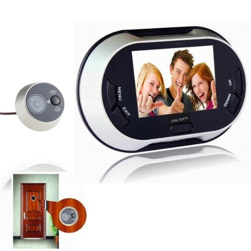 AGPtek 3.5inch 300KP LCD Digital Video Door Viewer Peephole Doorbell  Security Camera Cam