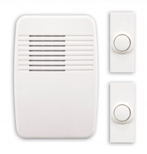 Heath Zenith SL-6167-C Wireless Plug-In Door Chime Kit with 2 Push Buttons