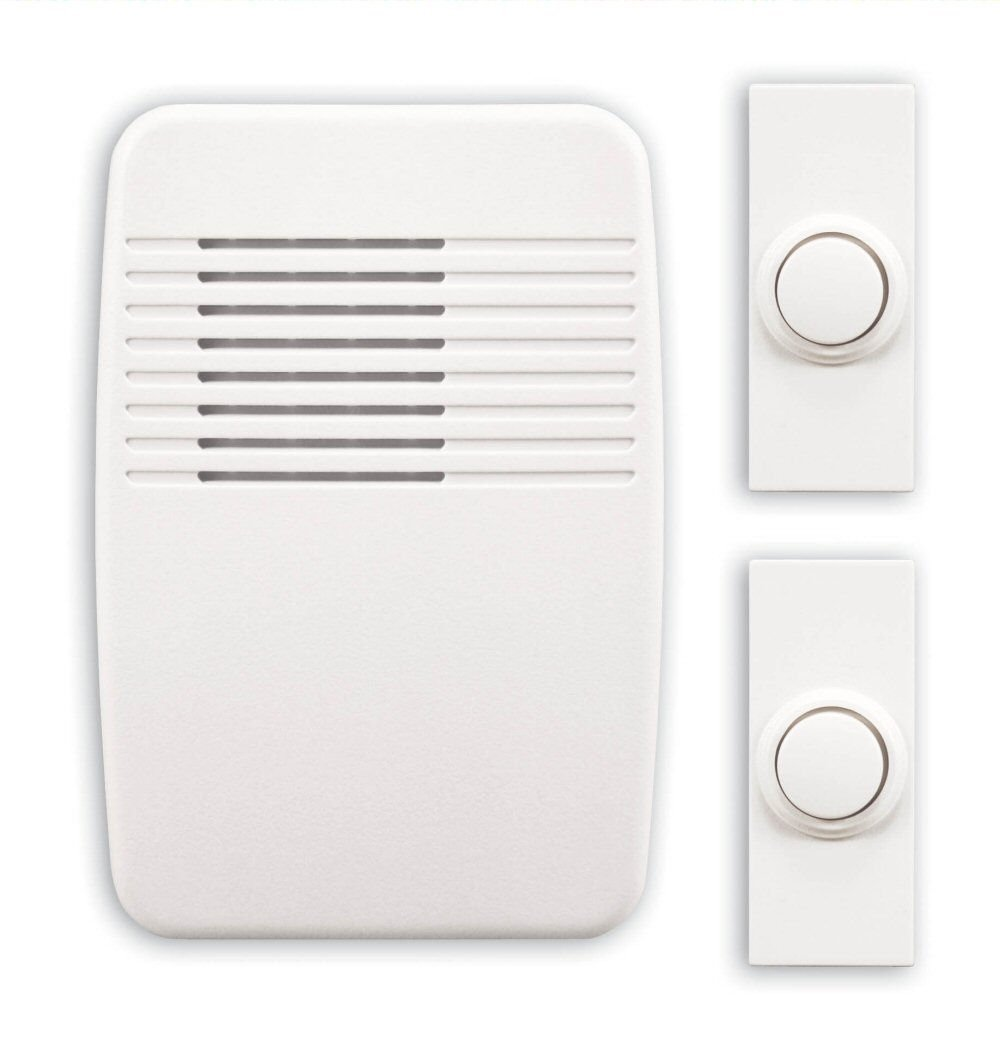 heath zenith sl6167c wireless plugin door chime kit with 2