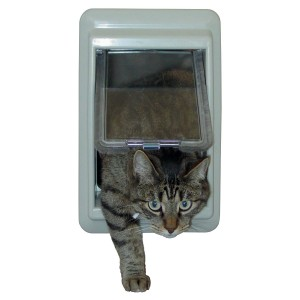 Ideal Pet Products Cat Flap Plastic Medium Electric Pet Door